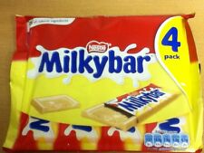 PACK OF 4 NESTLE MILKYBARS, WHITE CHOCOLATE - BRITISH CHOCOLATE - SHIP WORLDWIDE