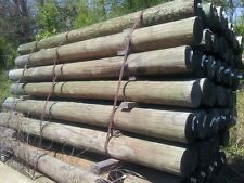 3-4 x 8ft pressure treated fence posts, southern yellow pine wood wooden fencing