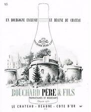 PUBLICITE ADVERTISING   1952  BOUCHARD   propriètaires & négociants en vin