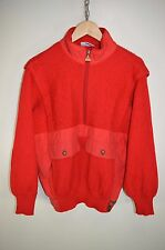 vtg 80s AUSTRALIAN BY L'ALPINA CASUALS WOOL ZIP NECK JUMPER SWEATER size S/M