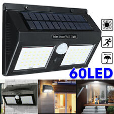 60LED Solar Power Motion Sensor Garden Security Lamp Outdoor Waterproof   # +