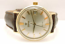 Vintage Omega Seamaster De Ville Watch Yellow Gold 14 Karat Automatic 35mm