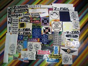 vtg 1970s 1980s Z Flex skateboards sticker - Zebra logos Woody +