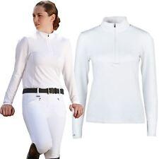 Dublin Tina Ladies Horse Riding Showing Long Sleeve Zip Stock Collar Show Shirt