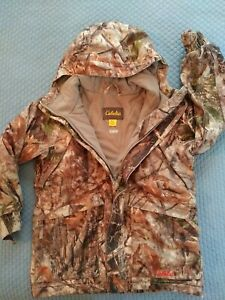 Cabelas Youth Small Heavy Hunting Jacket Zonz Woodlands Camo Dry-Plus
