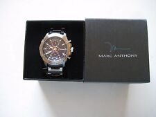 Marc Anthony FMDMA151 Men's Chronograph Watch Stainless Black Dial $175