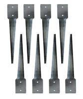 SET 8 x Bodenhülsen 101x101 Erdanker 75cm Einschlagbodenhülse  Pfostenhalter