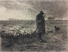 Jean François MILLET 1814-1875 Rentrée du troupeau Barbizon Gustave Marie GREUX