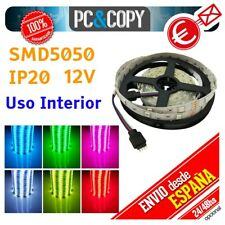 R1127 5M Tira LED RGB 12v SMD5050 Luces Interior Cinta Flexible 5050 Colores
