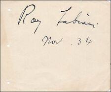 Ray (Aurelio) Fabiani - Signature(S) 11/1934
