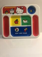 Vintage Hello Kitty Lunch Tray Compartments Sanrio 1976 Clean Plastic