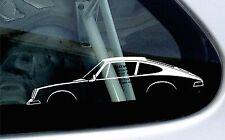 2x car silhouette stickers - For Porsche Classic 911 (1964-1973)