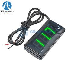 Dc 12v Green Led Display Digital Voltmeter Voltage Gauge Panel Meter For Car