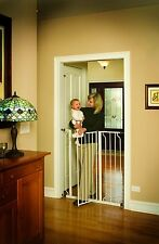 Regalo Easy Step Extra Tall Baby / Pet Safety Walk Thru Gate, White - New