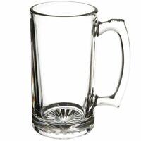 Beer Mug with Handle 26 oz - Jumbo, Heavy, Drinking Glass, Sports, Bar