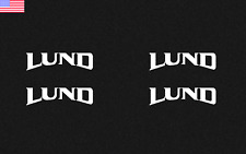 """Lund Boat Vinyl Decal laptop 3"""" car/truck/boat windows wall boats 4 Pack Lot"""