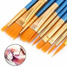 10X Artist Painting Brushes Set Watercolour Acrylic Oil Face Paints Craft Kit