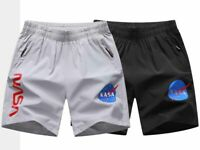 Summer Mens Sports Running Quick-dry Nasa Casual Pockets Beach Shorts Oversize