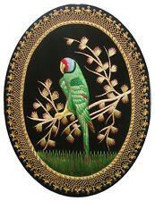 Rugs Jewel Carpet Hand Embroidery Zardozi Parrot Wall Hanging 1½ 'X 2 '
