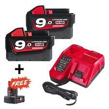Milwaukee M18 Nrg-902 Energy Pack 18v 2 Batteries 9.0ah Li-ion Botte 1 BATT