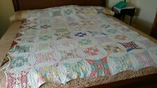 Antique Handsewn Quilt probably 1930's 60� X 77� Twin worn in numerous places.