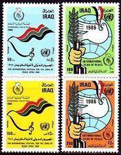 Irak Iraq 1986 ** Mi.1338/41 Jahr des Friedens Year of peace Taube Dove Emblem