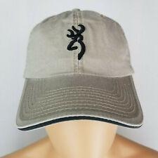 Browning Deer Logo Hunting Adjustable Adult Khaki Baseball Ball Cap Hat NWT