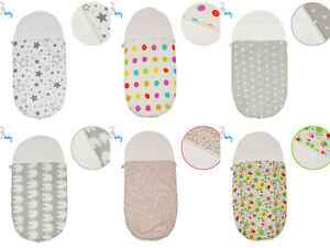 New Warm & Cosy 2 in 1 Baby Carrycot Sleeping Bag / Liner / Footmuff / Cosy Toes