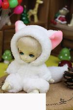 Cute Pink Ears Fox Animal Outfit For BJD 1/8 pukifee/lati Doll Clothes ALB6B