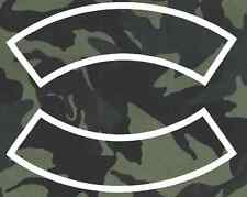 CUSTOM EMBROIDERED MOTORCYCLE  ROCKER PATCH CAMO 12 INCH