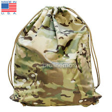 Tactical Genuine Mil Spec Multicam Drawstring Bag Hiking Sack Backpack Made USA