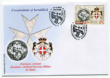 Romania Malta 2012 Sovereign Military Order of Malta,Maltese Cross,Heraldic,FDC