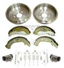 FORD FOCUS MK2 2005-2010 REAR 2 BRAKE DRUMS SHOES WHEEL CYLINDERS & FITTING KIT