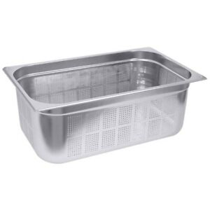 Gastronorm Behälter aus Edelstahl 18/10, 1/3 GN-Behälter Perforiert, 100 mm