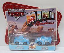 DINOCO CHICK HICKS & LIGHTNING MCQUEEN Disney Pixar Cars Dream World M1901 NEW