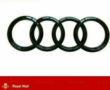 AUDI GLOSS BLACK FRONT RINGS BADGE EMBLEM S LINE A3 RS3 A4 RS4 A1 GRILLE 273mm
