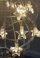 30x Warm White LED Star String Lights Indoor/Outdoor Bedroom Star Fairy Lights