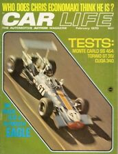 CAR LIFE 1970 FEB - SS454, 340 CUDA & TORINO GT TESTED,EAGLE, USAC,240Z,POSEY