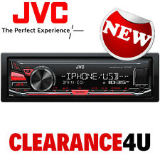JVC Deckless Mechless USB AUX Car Radio Stereo Player 4 x 50 Watts Red Display