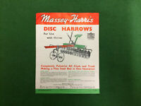 1940 Massey Harris brochure catalogue Disc Harrows farm machinery vintage