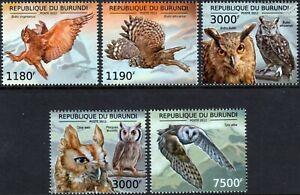 THE OWLS OF AFRICA Bird Stamp Set (2012 Burundi)