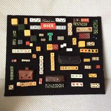 Vintage Collection of Dice, Poker Dice, Backgammon, Bakelite, Boxed Dice Mini