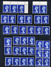 Great Britain Lot Of 72 Scott #Mh167-168 Used Machin Head Stamps