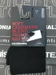 Calzedonia soft cashmere blend tights, size L (4), black, BNWT