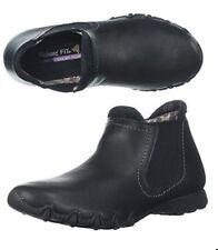 NEW Skechers Leather Modern Comfort Undergrad Biker's Chelsea Boot Black 5.5