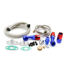 "BRAIDED STAINLESS STEEL TURBO CHARGER 36"" OIL FEED DRAIN LINE 1/8NPT FITTING KIT"
