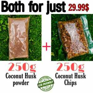 Sri Lankan Clean Coconut Husk Chips & Powder For Orchid Flowers,Bonsai Free