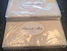 2 Peacock Alley STEFANO 100% Cotton Standard Pillow Shams  BISQUE  NEW  $230