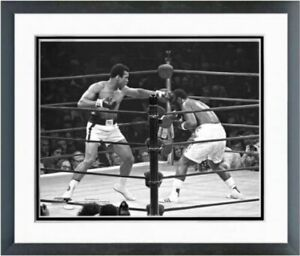 "Ali Muhammad vs Joe Frazier Action Photo (Size: 12.5"" x 15.5"") Framed"