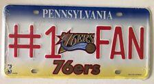 NBA Philadelphia 76ers Basketball #1 FAN Pennsylvania License Plate - NEW!